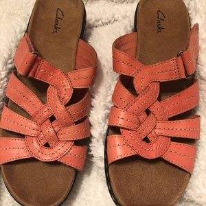 Clarks Sandals! Beautiful coral color